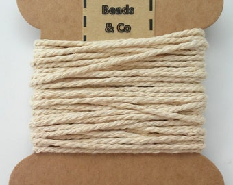 Cotton of 1.5 mm thick - Cotton cord (1.5 mm thick) - craft - cotton thread - thread for breastfeeding necklaces