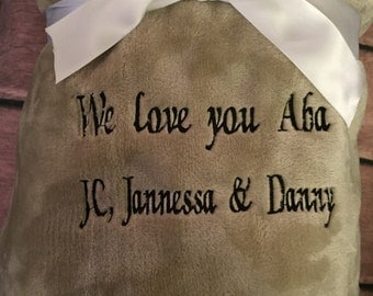Custom Throw Blanket with your message