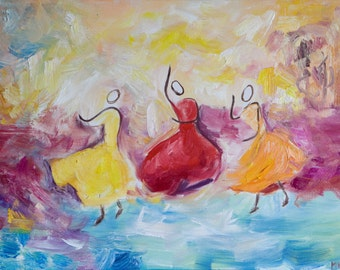 Dance - Original Art Oil on Canvas Painting
