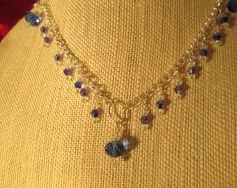 Swarovski Crystal necklace,Hand made Jewelry,