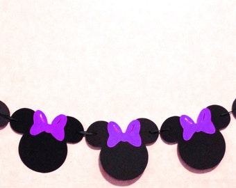 1 Minnie Mouse Garland - Minnie Mouse Party Decorations - Minnie Mouse Baby Shower - Minnie Mouse Birthday - Baby Girl Party - Minnie