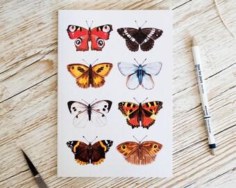 British Butterflies A5 Notebook - SALE