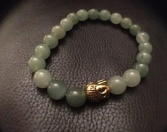 Light Jade Beaded Bracelet