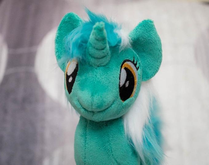 Plush Lyra Heartstring Custom Pony fur mane MLP:FIM