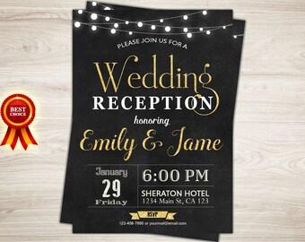 Reception invite | Etsy