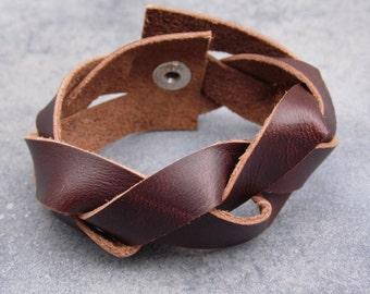 leather bracelet, boho bracelet, leather jewelry, gift for her, leather bangles, valentine's gift, braided bracelets, unisex bracelet, wrap