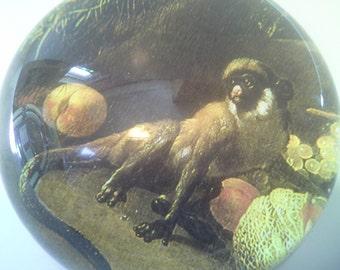 Monkey glass paperweight