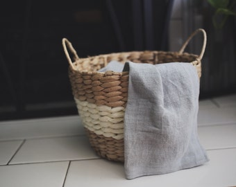 Naturally Dyed Linen Tea Towels