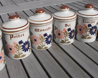 6 canisters in excellent condition - 6 french kitchen canisters