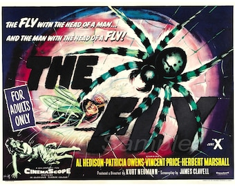 Vintage The Fly Movie Poster Print