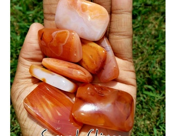 Carnelian Pillow Tumbled Stones!! Crystals Wire Wrap Reiki Quartz Rocks Geodes Homemade Boho