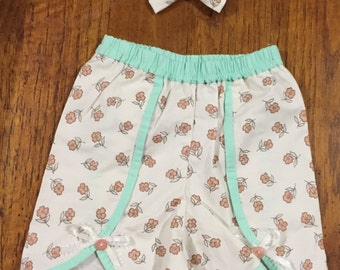 Little N Shorts for Girls Size 2 with Hair Bow