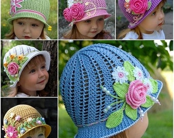 Girls crochet hats