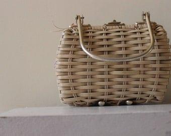 1960s Plastic Weave Purse