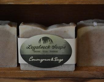 Lemongrass & Sage Soap - organic, handmade, all natural, cold process, vegan