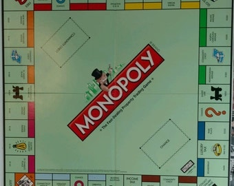 2008 Original Monopoly Game Board Only Replacement Part