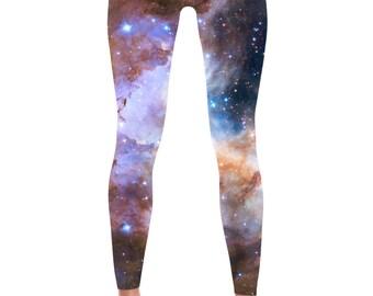 Galaxy Leggings - Universe Cosmic Galaxy Tights Yoga Nebula Workout Pants