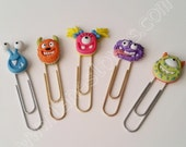 Cute Monster Planner Paper Clips (single)