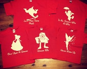 Disney Character Shirts with quote/saying   Family Disney Shirt, Matching Family Shirts, Custom, Silhouette Shirt