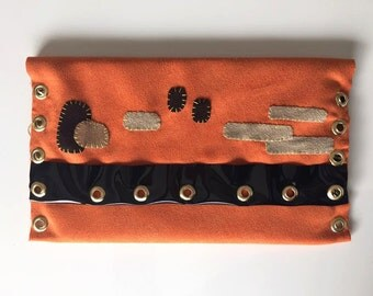 CLUTCH SUEDE ORANGE