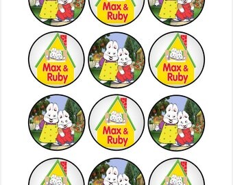 Edible Max and Ruby Cupcake Cookie Toppers