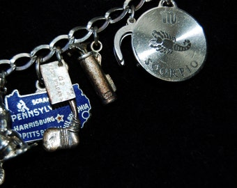 Sterling Silver Bracelet With Sterling Silver Charms