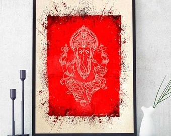 Ganesh Wall Art ganesha wall art | etsy
