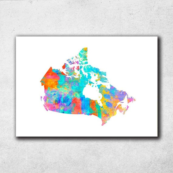 Canada Map Poster Canadian Wall Art Nursery Decor By Pointdot