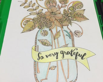 Jar Picture, watercolor pencil 8x10
