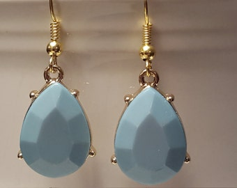 Beautiful Soft Blue and Gold Drops