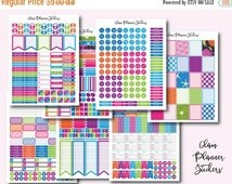 50% OFF - SALE Mega Monthly Colorful Printable Planner Stickers, Erin Condren Planner Stickers, Monthly Planner Stickers, Colorful Stickers