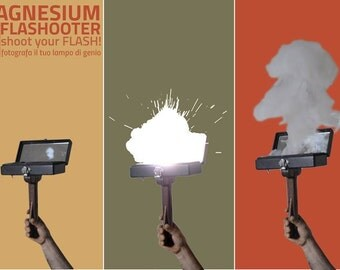 New Magnesium Flash Flashooter for Vintage Photos for Collodion & analog film