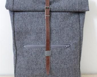 Backpack grey Rollsack Rollbackpack Design for  Laptop