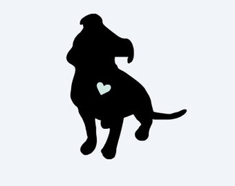 Love Pit Bull Car Decal