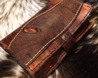 Leather Tobacco pouch - custom made to order