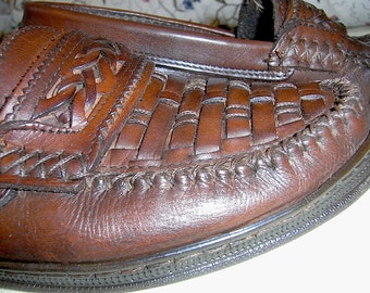 Leather moccasin, Italian, Manufact., Fawn, great condition! superbequeum, 40