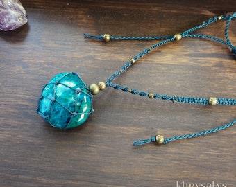 Necklace Bracelet with Chrysocolla