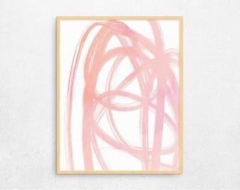 SALE 50% OFF- Abstract Pink Modern Art Digital Poster, Printable Poster, Modern Simple Digital Art, Instant Download #120