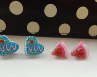 Cute Cake Stud Earrings