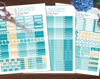 November '15/'16 monthly colors, planner sticker printable, November month kit, printable stickers, erin condren, vertical printables