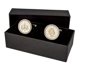five pence coin cufflinks - Gift Boxed - Dates 1990-2010
