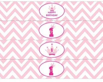 Printable Princess PDF water bottle label