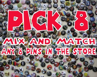 Any Assortment Of 8 Pin Buttons Listed In This Store