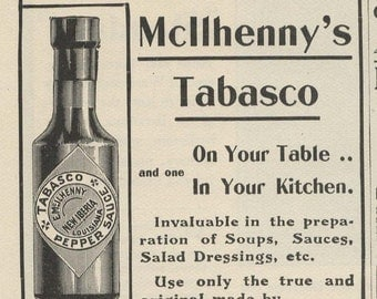 1902 Full Ad Page: Tabasco Sauce, Standard Tubs