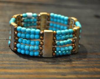 Beaded Turquoise Bracelet