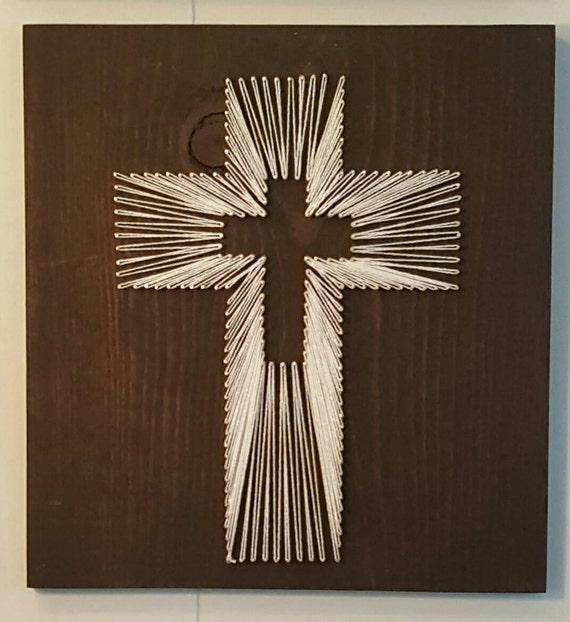string art cross. Black Bedroom Furniture Sets. Home Design Ideas