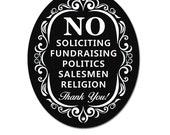 No Soliciting- Sign for Home and Business