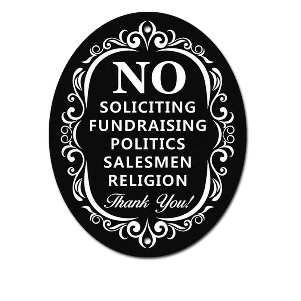 This is a photo of Sizzling Free Printable No Soliciting Sign