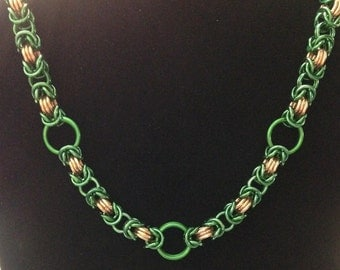 Chunky Byzantine Chainmaille Necklace