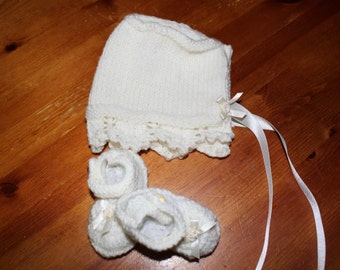 hand knitted set